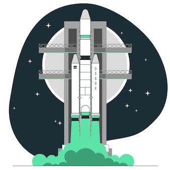 Ilustracja koncepcja rakiety