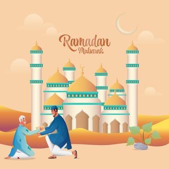 Ilustracja Koncepcja Ramadan Mubarak Premium Wektorów