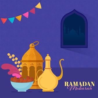 Ilustracja koncepcja ramadan mubarak
