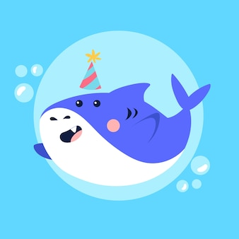 Ilustracja koncepcja rekin dziecko