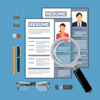 Ilustracja koncepcja rekrutacji i zatrudniania zatrudnienia