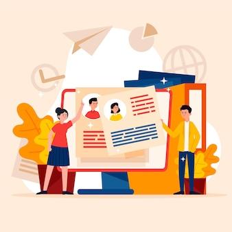 Ilustracja koncepcja rekrutacji