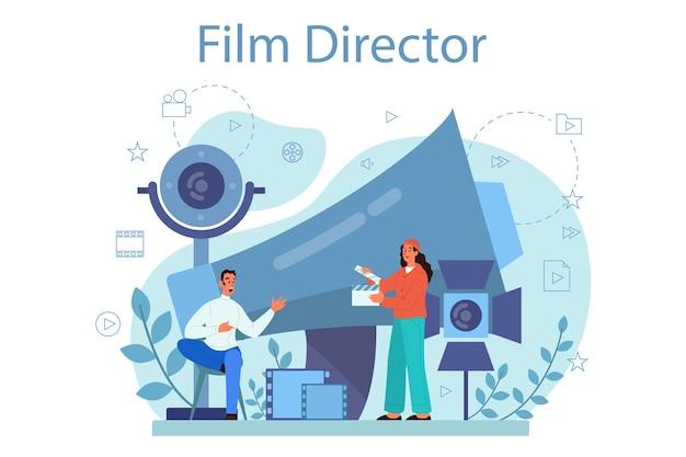 Ilustracja koncepcja reżysera filmowego