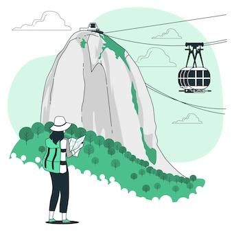 Ilustracja koncepcja rio de janeiro