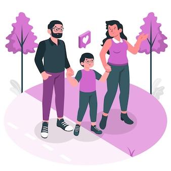 Ilustracja koncepcja rodziców