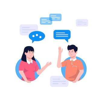 Ilustracja koncepcja rozmowy