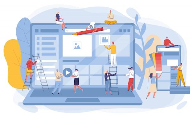 Ilustracja koncepcja rozwoju interfejsu strony internetowej