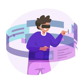 Ilustracja koncepcja rzeczywistości rozszerzonej