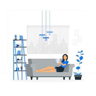 Ilustracja koncepcja salonu