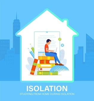 Ilustracja koncepcja samoizolacji