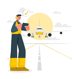 Ilustracja koncepcja samolotu