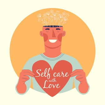 Ilustracja koncepcja samoopieki