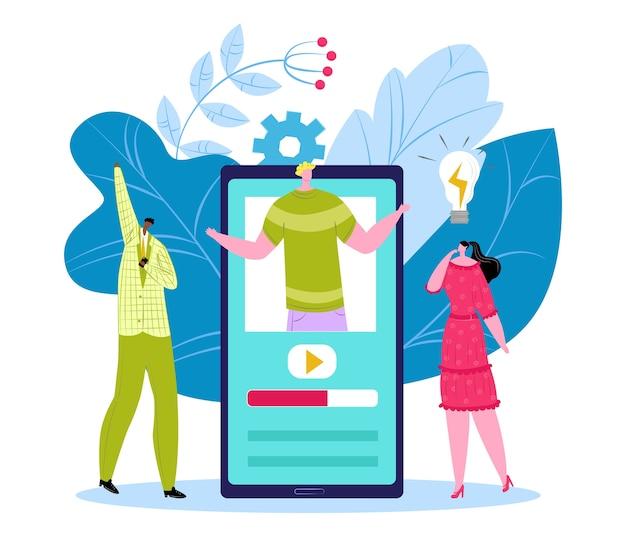Ilustracja koncepcja samouczka wideo