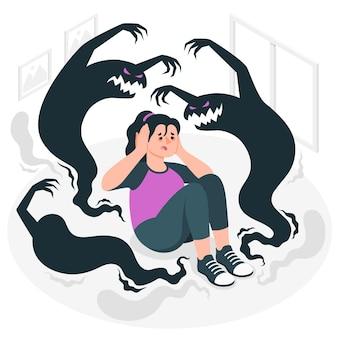 Ilustracja koncepcja schizofrenii