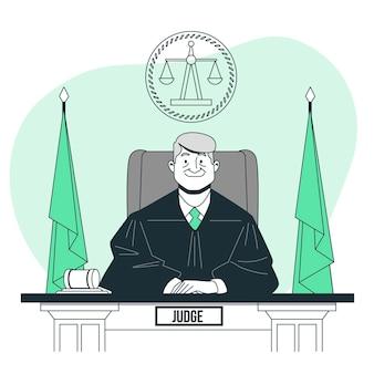 Ilustracja koncepcja sędziego
