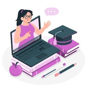 Ilustracja koncepcja seminarium internetowego