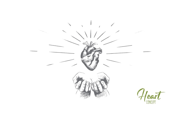 Ilustracja koncepcja serca