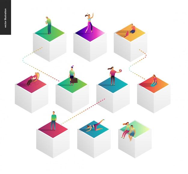 Ilustracja koncepcja sieci