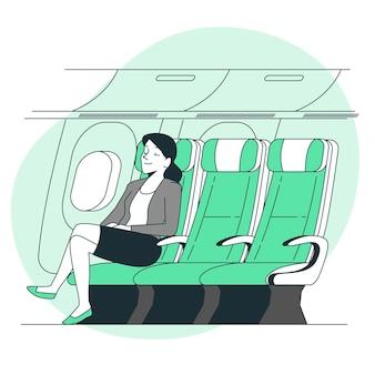 Ilustracja koncepcja siedzenia przy oknie
