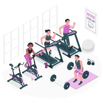Ilustracja koncepcja siłowni