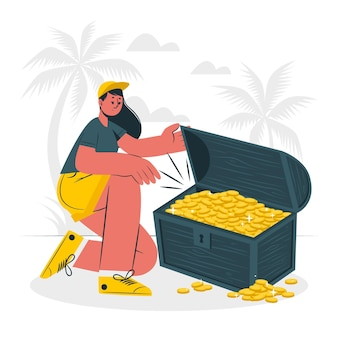 Ilustracja koncepcja skarbu