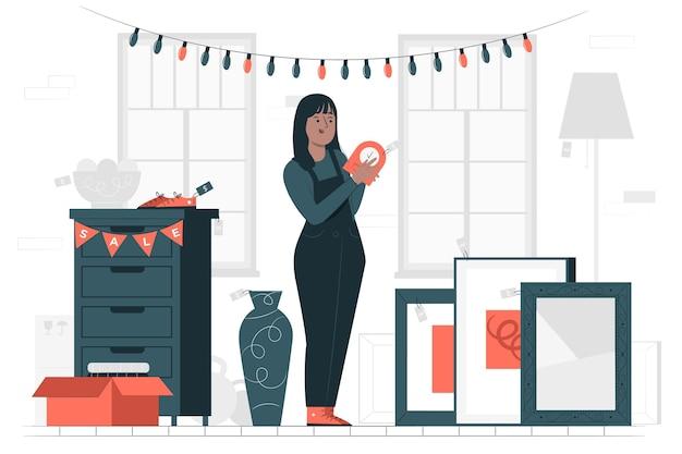 Ilustracja koncepcja sklepu używanego