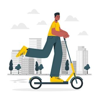 Ilustracja koncepcja skutera