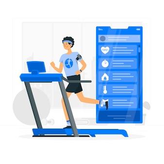 Ilustracja koncepcja śledzenia fitness