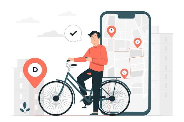 Ilustracja koncepcja śledzenia lokalizacji