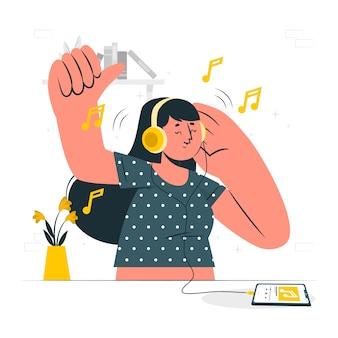 Ilustracja koncepcja słuchawek