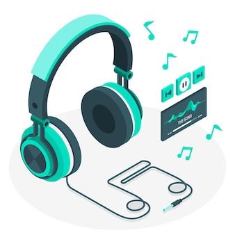 Ilustracja koncepcja słuchawki