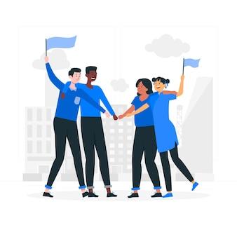 Ilustracja koncepcja solidarności