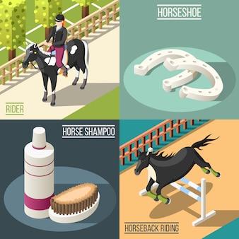 Ilustracja koncepcja sportu jeździeckiego