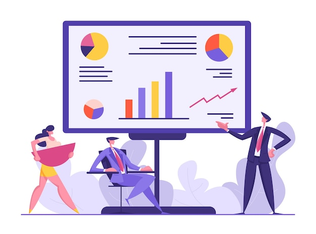 Ilustracja koncepcja spotkania ludzi biznesu