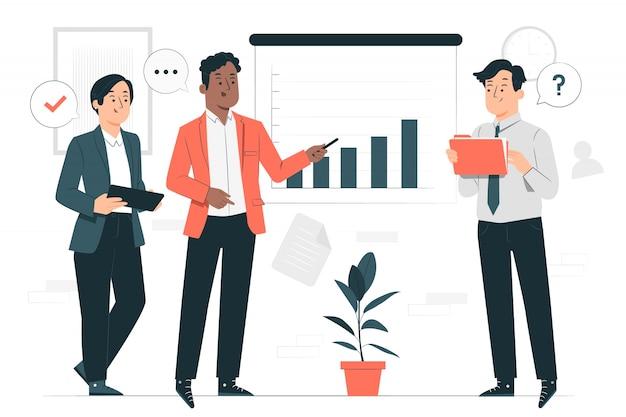 Ilustracja koncepcja spotkania na stojąco