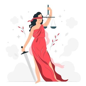 Ilustracja koncepcja sprawiedliwości