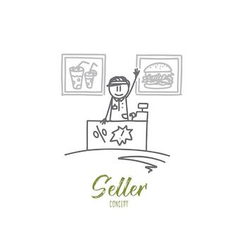 Ilustracja koncepcja sprzedawcy