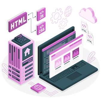 Ilustracja koncepcja statycznej witryny sieci web