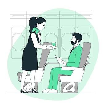 Ilustracja koncepcja stewardessy