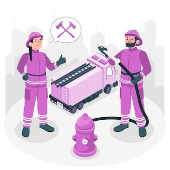 Ilustracja koncepcja strażaka