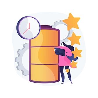 Ilustracja koncepcja streszczenie czasu pracy baterii