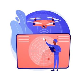 Ilustracja koncepcja streszczenie drone wojskowy