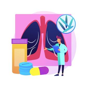 Ilustracja koncepcja streszczenie gruźlicy. światowy dzień gruźlicy, zakażenie prątkami, diagnostyka i leczenie, zakaźna choroba płuc, infekcja zakaźna - abstrakcyjna metafora.