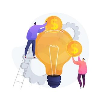 Ilustracja koncepcja streszczenie inwestycji venture