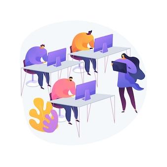 Ilustracja koncepcja streszczenie laboratorium komputerowego