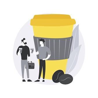 Ilustracja koncepcja streszczenie przerwa na kawę.