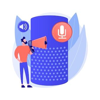 Ilustracja koncepcja streszczenie sterowania głosem