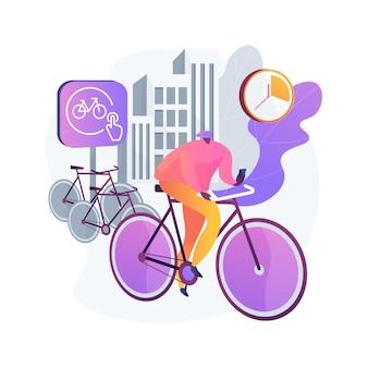Ilustracja koncepcja streszczenie udostępniania roweru