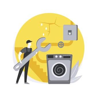 Ilustracja koncepcja streszczenie usług piwnicy.
