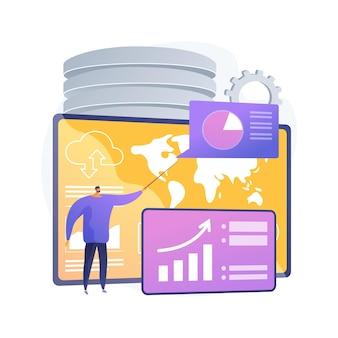 Ilustracja koncepcja streszczenie usługi deski rozdzielczej